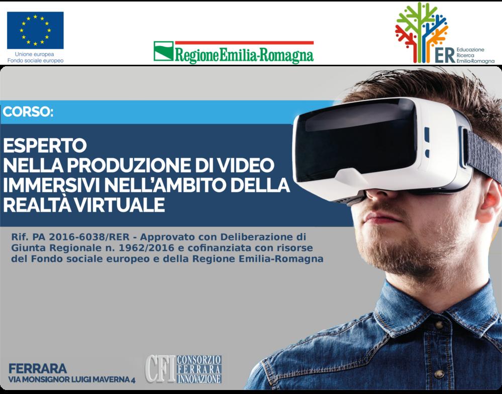 Esperto nella produzione di video immersivi nellambito della realt virtuale