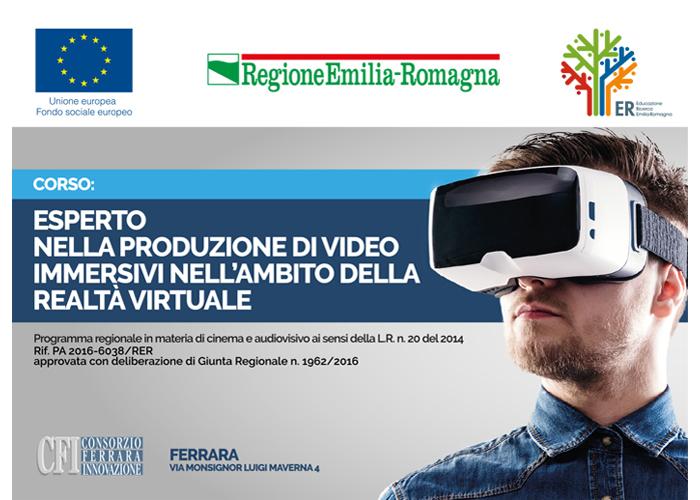 Corso – Esperto nella produzione di video immersivi nell'ambito della realtà virtuale