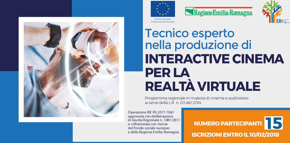 Corso – Tecnico esperto nella produzione di INTERACTIVE CINEMA PER LA REALTÀ VIRTUALE