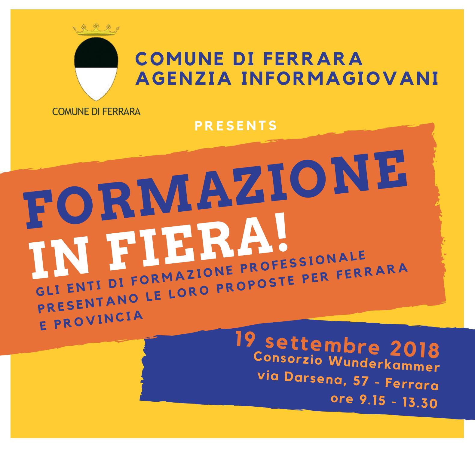Fiera della formazione, Ferrara – 19 settembre 2018
