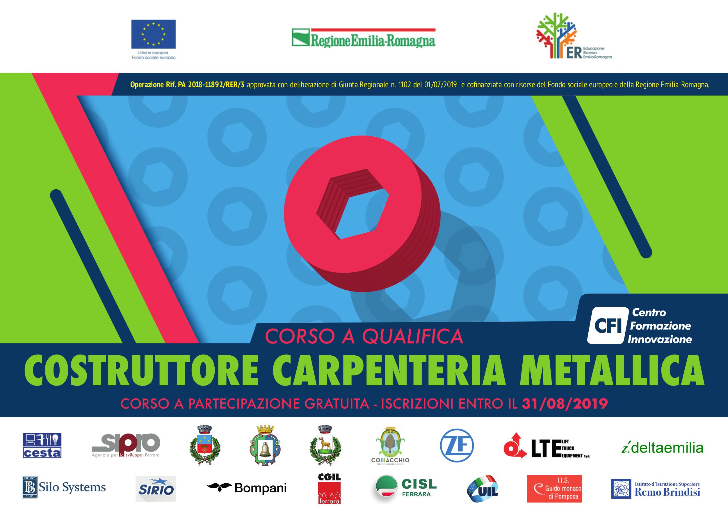 Corso – COSTRUTTORE DI CARPENTERIA METALLICA