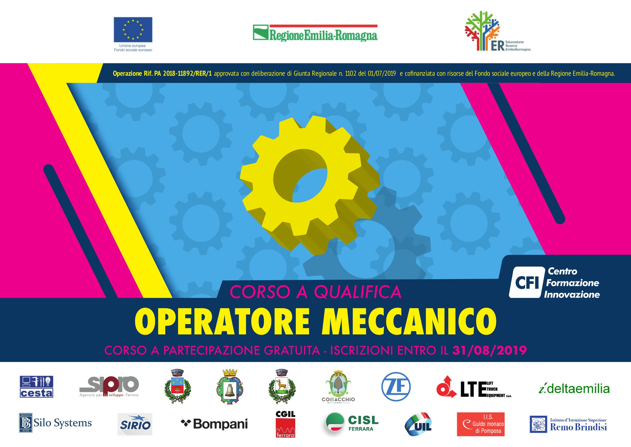 Corso – OPERATORE MECCANICO