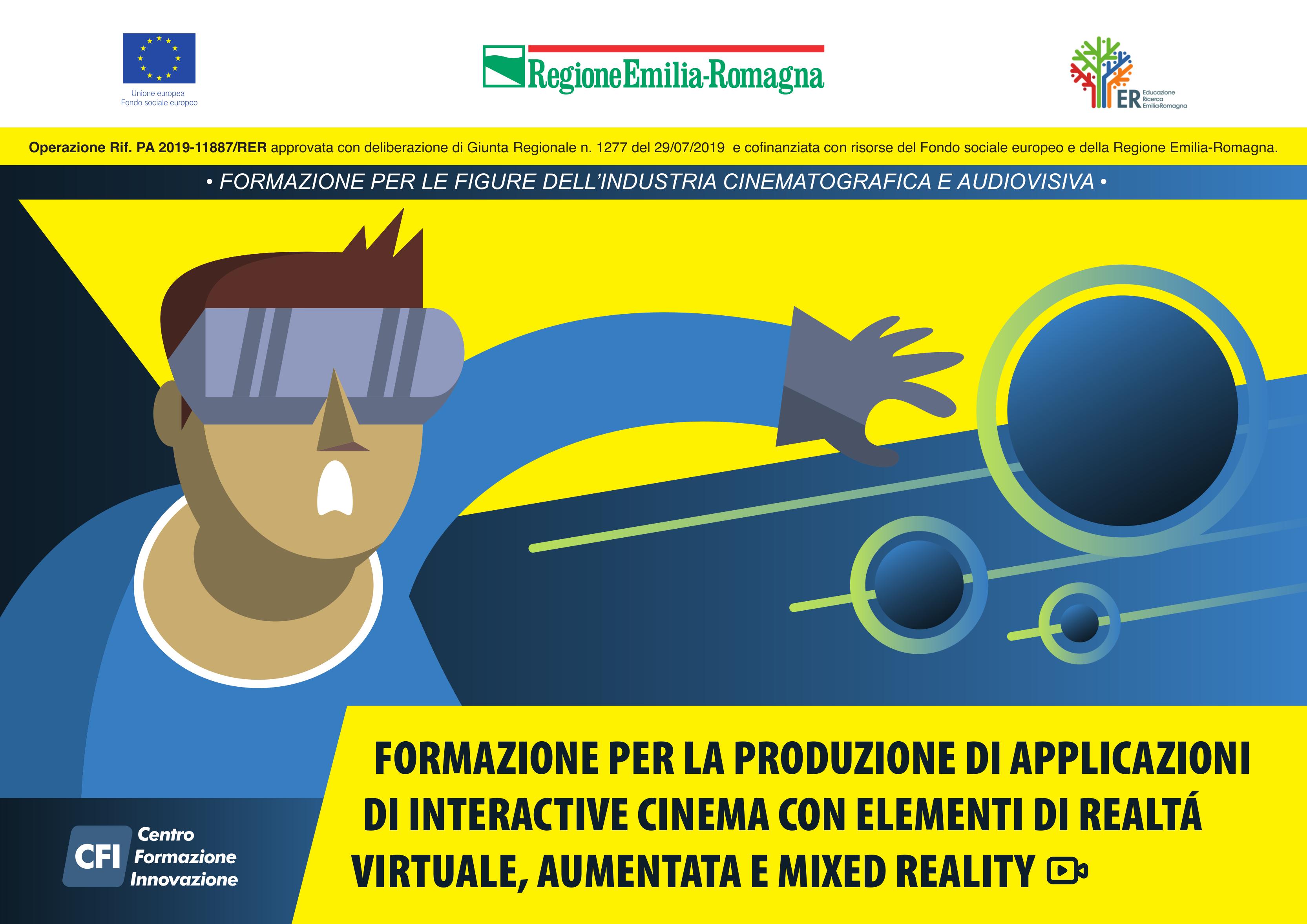 Corso – Formazione per la produzione di applicazioni di interactive cinema con elementi di realtà virtuale, aumentata e mixed reality