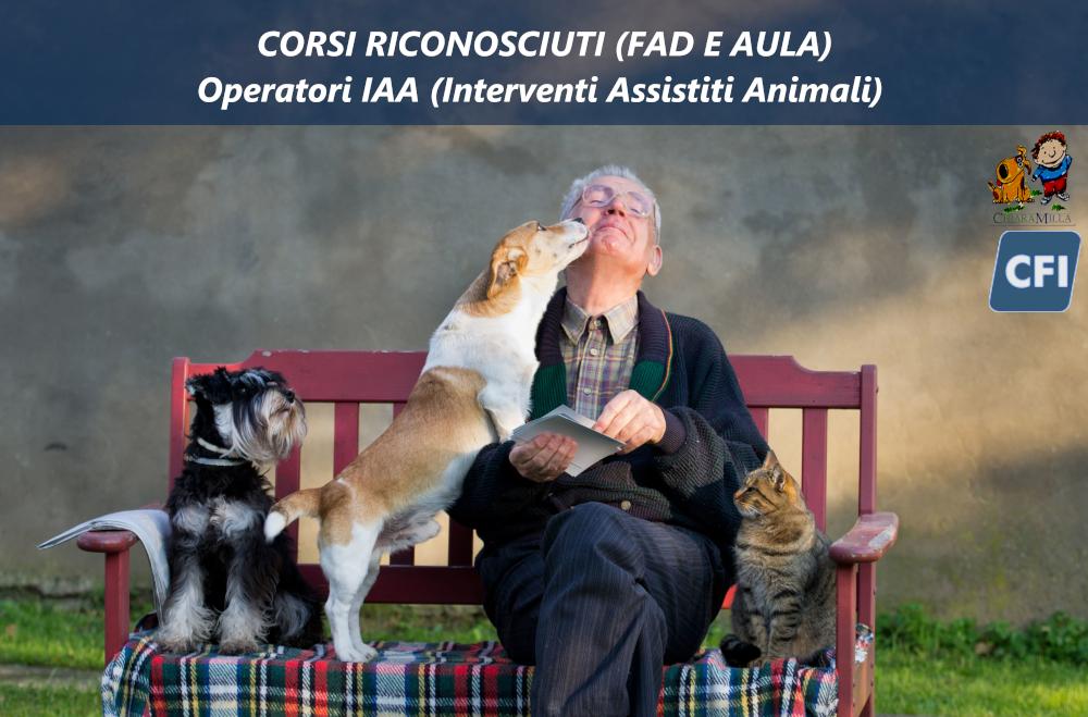 Corso – Operatori negli interventi assistiti con animali (IAA)